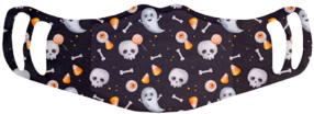 MF1 Polyester Face Mask - Ghost Skeleton Assorted